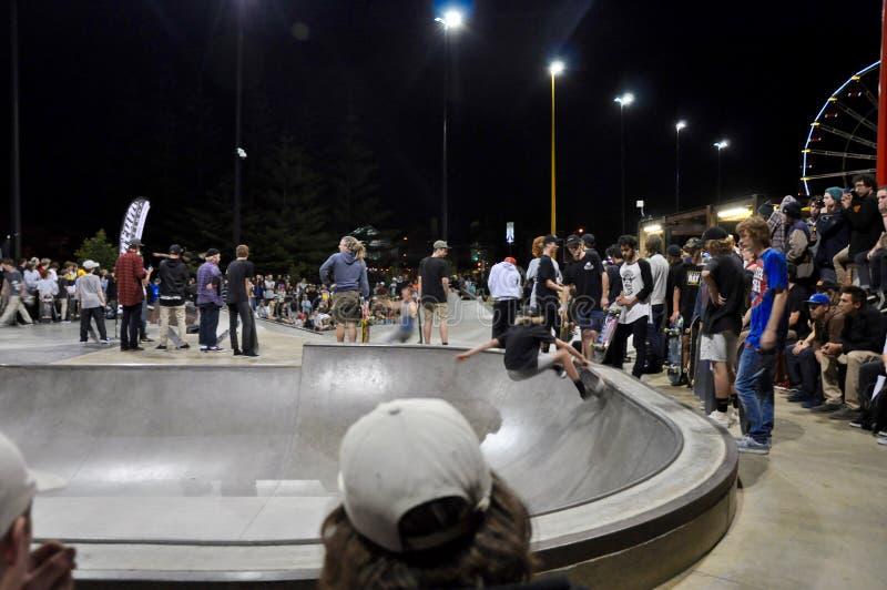 Skateboarding Showcase: Riding the Rails royalty free stock image