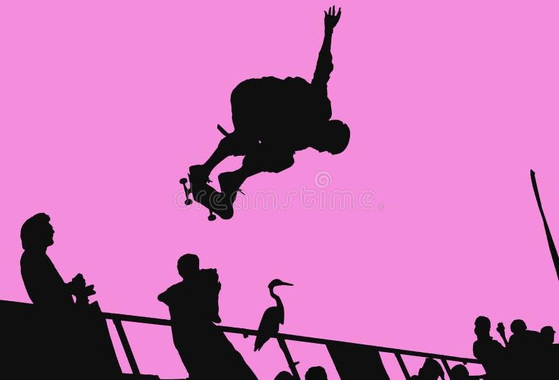 Skateboarding Silhouette Stock Photos