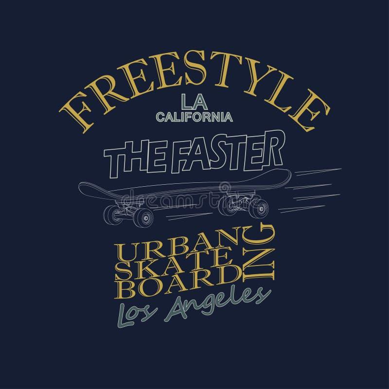 Skateboarding t-shirt graphic design - vector vector illustration