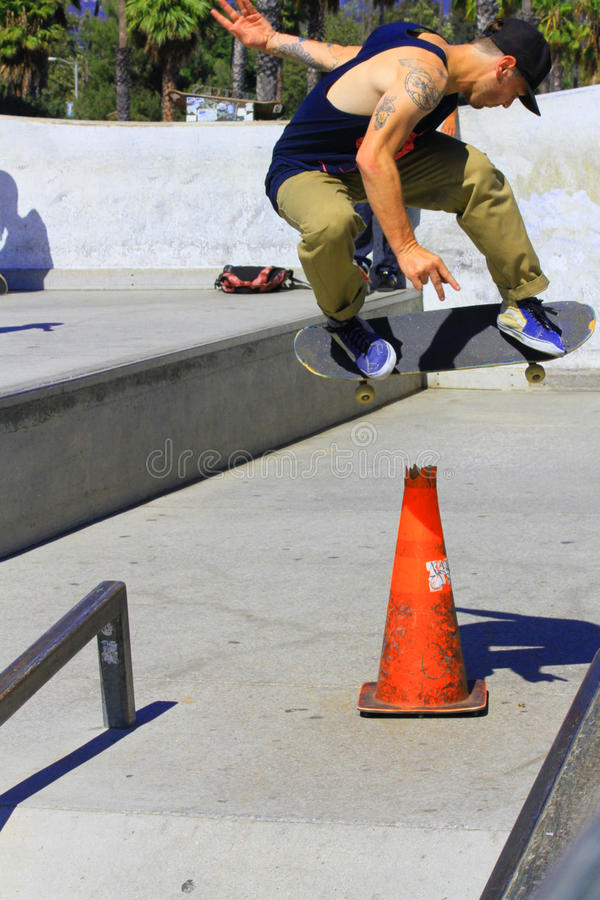 Skateboarding trick royalty free stock images