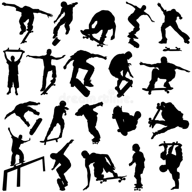 Skateboarding Vector Royalty Free Stock Image - Image: 4716256