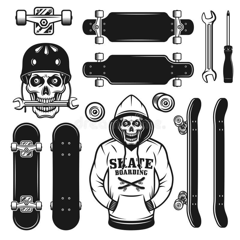 9ec96db1 Skateboarding Vector Emblem With Two Skate Decks Stock Vector ...