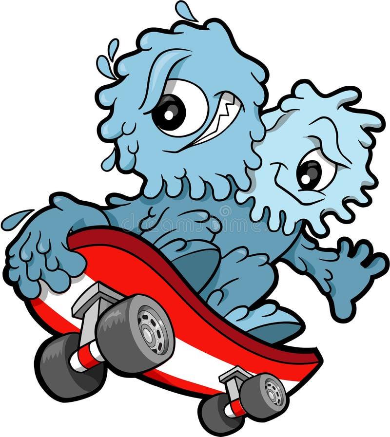 skateboarding vektor för booger royaltyfri illustrationer