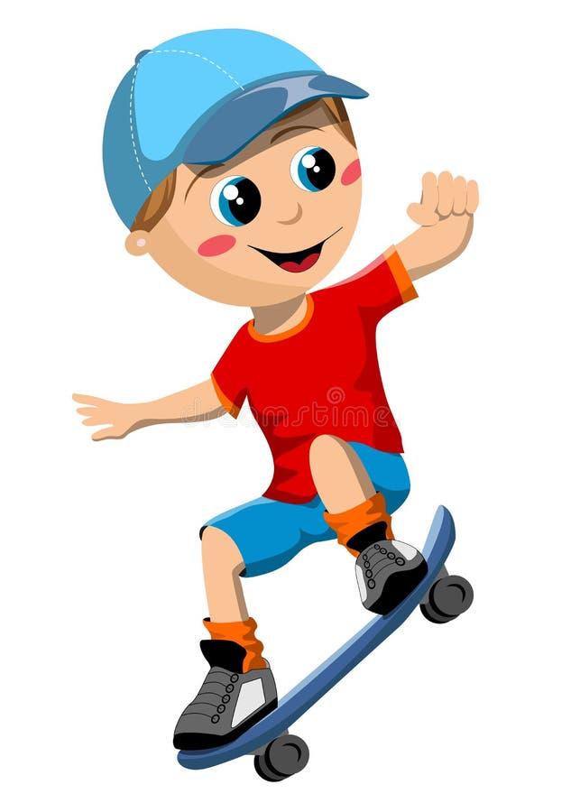 Skateboardpojke royaltyfri illustrationer