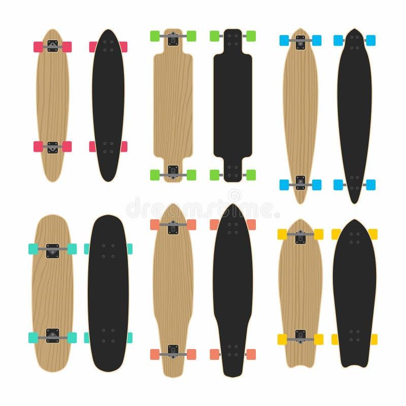 Skateboardreeks royalty-vrije illustratie