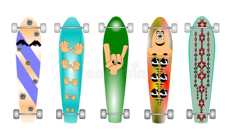 Skateboards vector illustratie