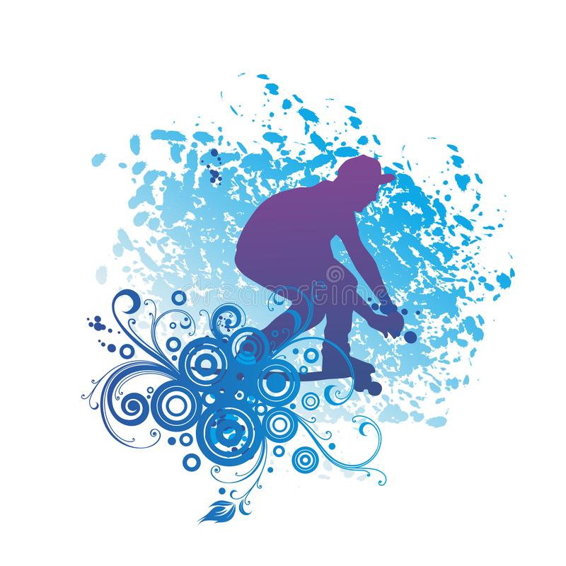Skateboardspelers, die het Skateboard spelen vector illustratie
