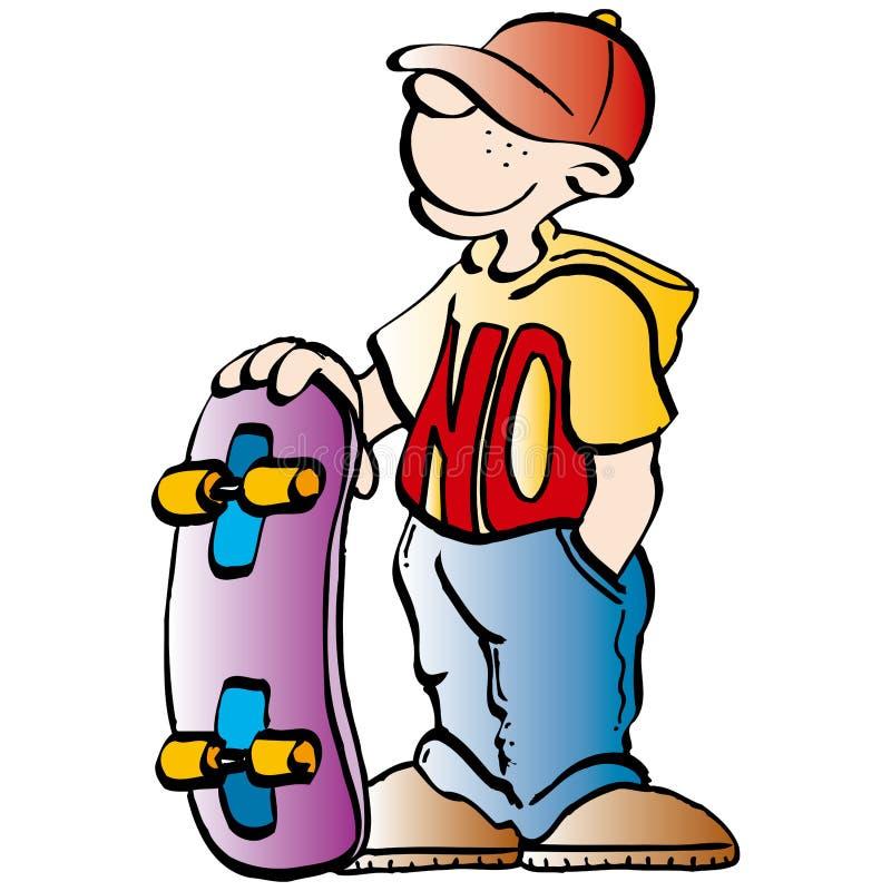 skateboradåkare stock illustrationer