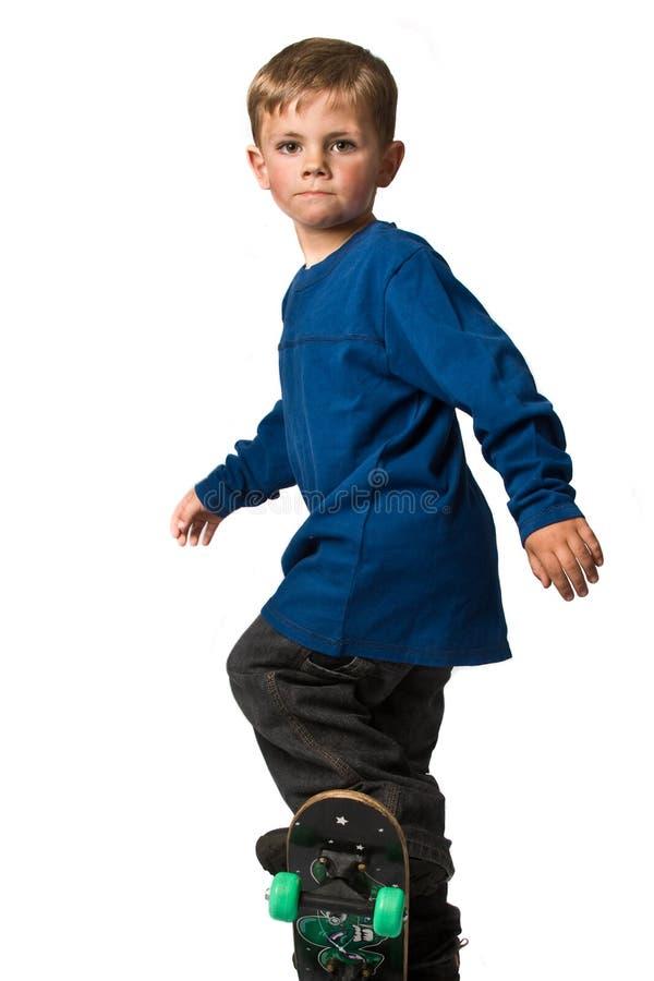 Skateboradåkarepojke fotografering för bildbyråer