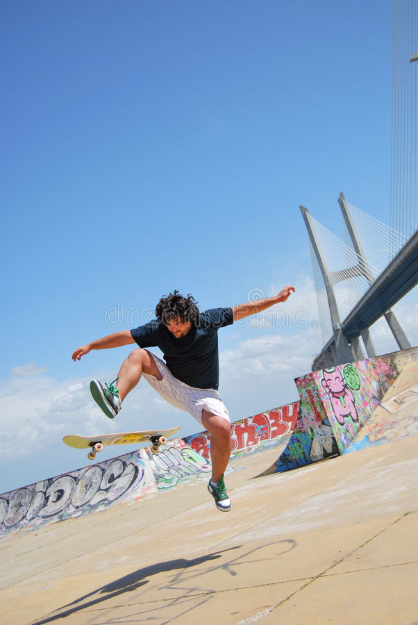 Skatepark商展在里斯本,葡萄牙 库存图片