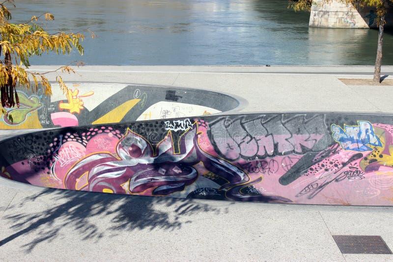 Skatepark在利昂 免版税库存照片