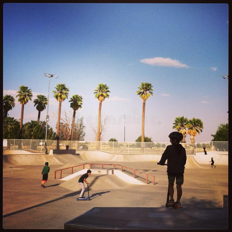 Skatepark fotografia stock libera da diritti