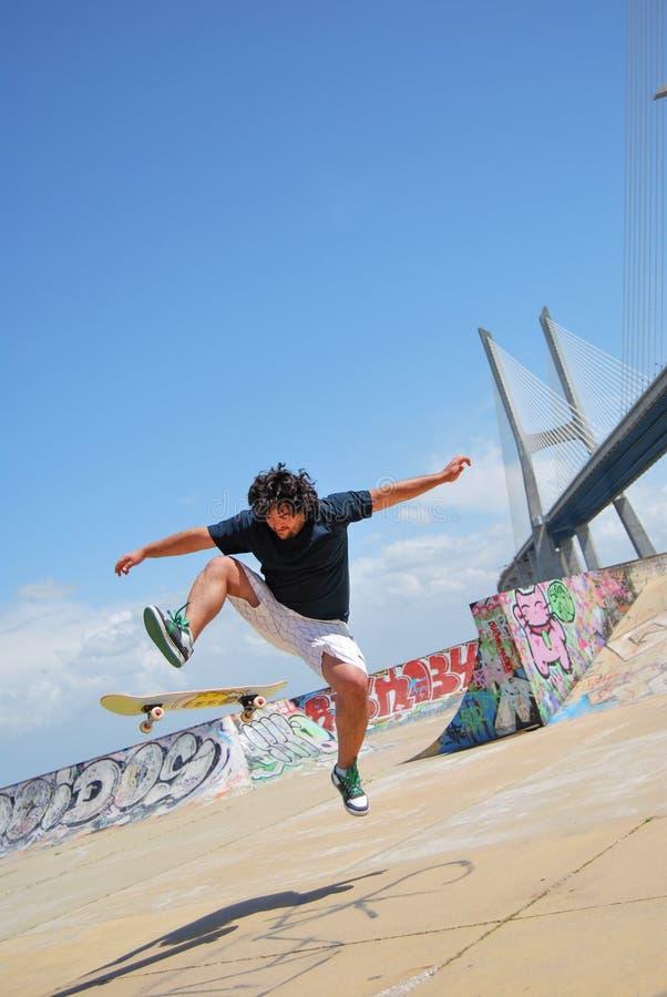 Skatepark expo i Lissabon, Portugal fotografering för bildbyråer