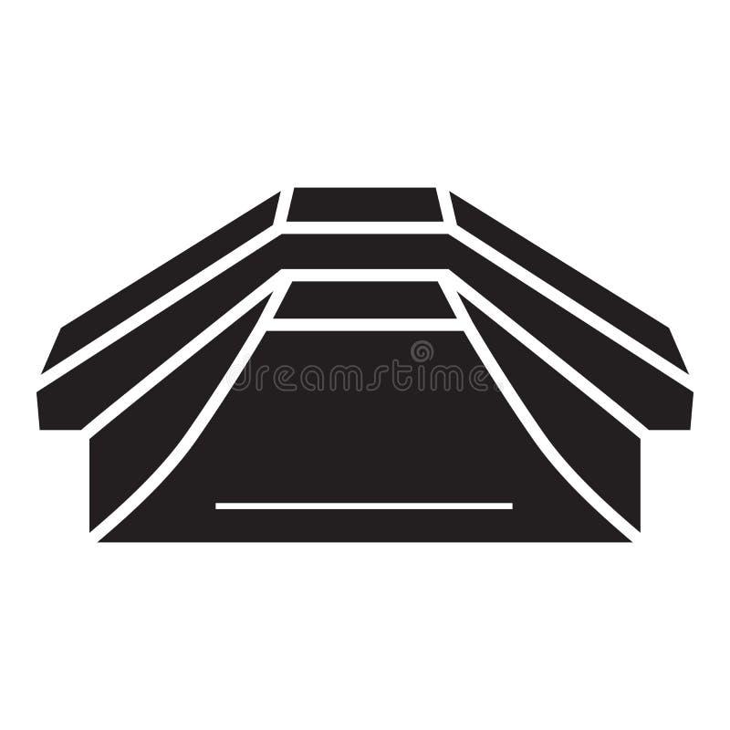 Skateparkpictogram, eenvoudige stijl vector illustratie