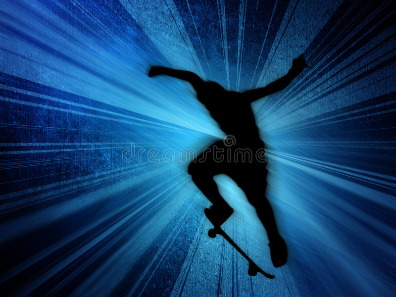 Skater ilustração royalty free