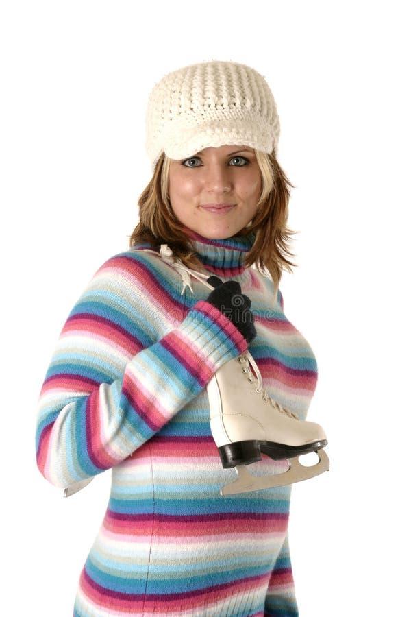 Download Skater da figura fêmea foto de stock. Imagem de skater - 544364