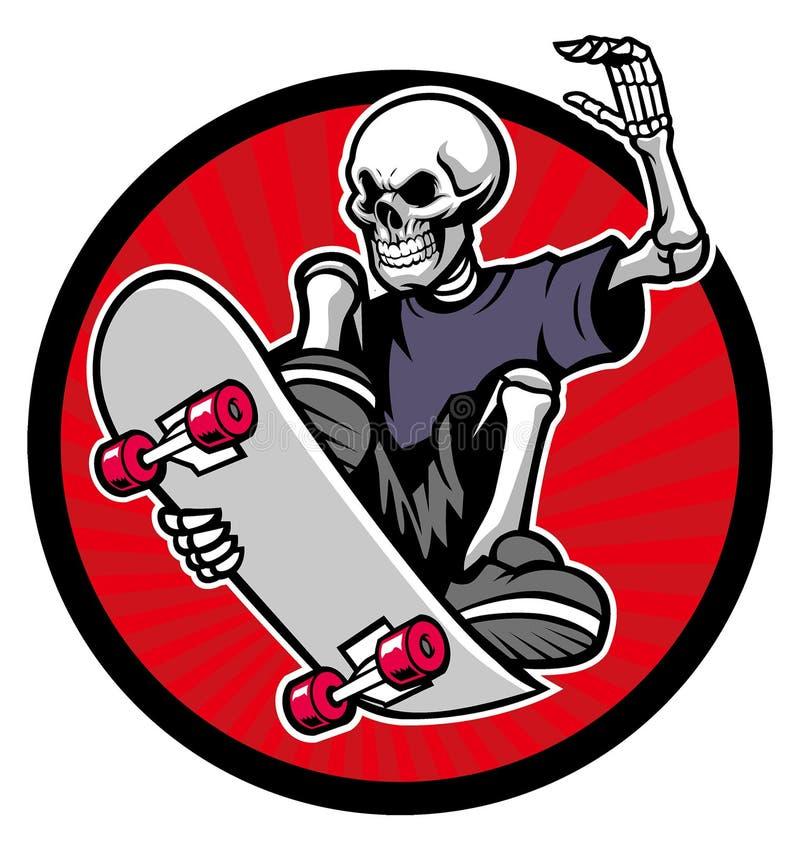 Skater do crânio ilustração stock