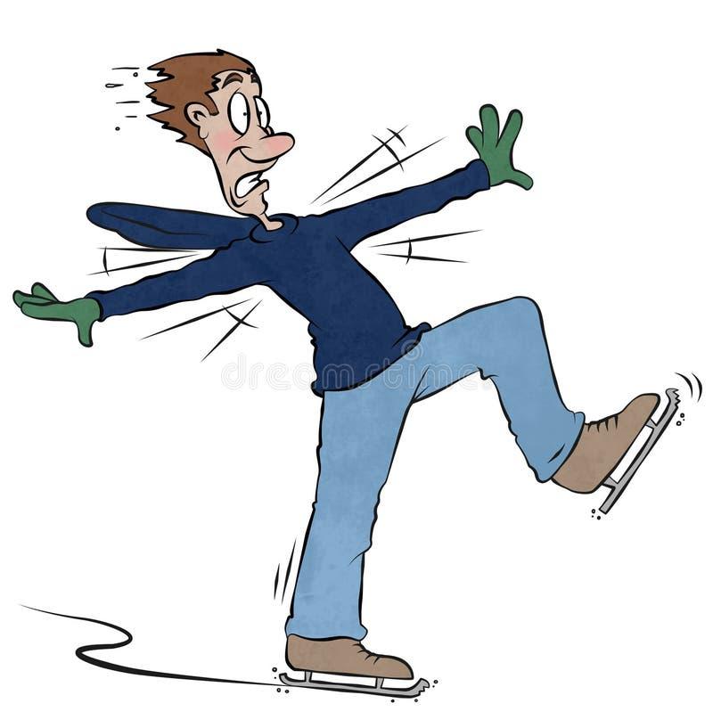 Skater do gelo ilustração do vetor