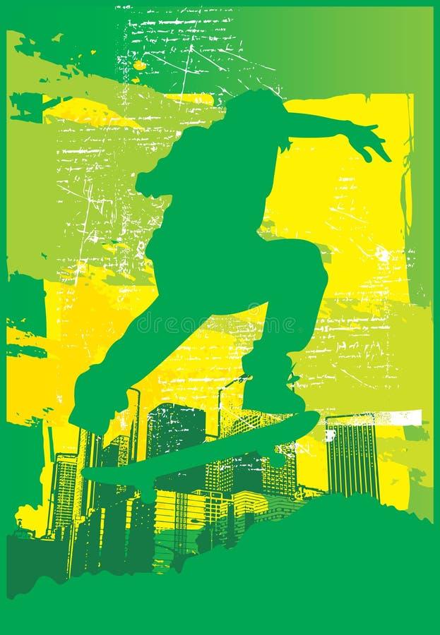 Skater Electric Green royalty free illustration