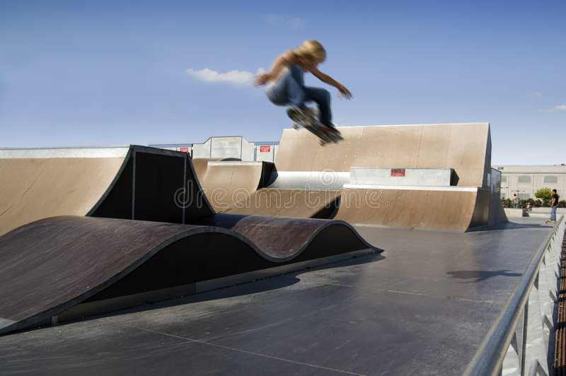 Skater extreme jump royalty free stock photography