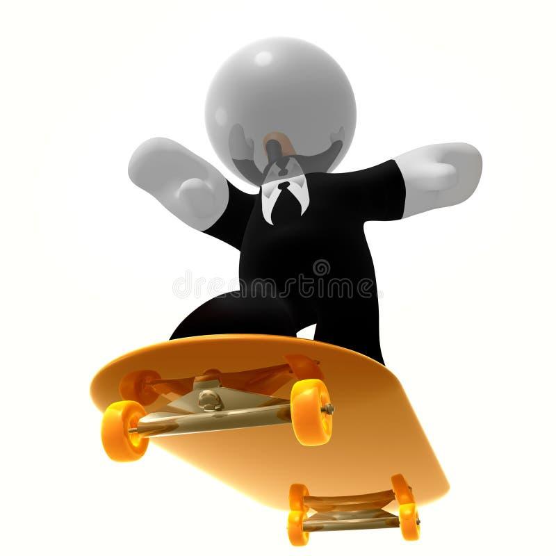 Skater fresco do homem de negócios ilustração stock