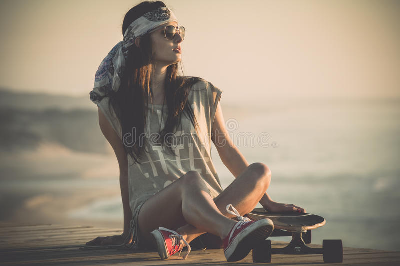 Skater Girl royalty free stock photography