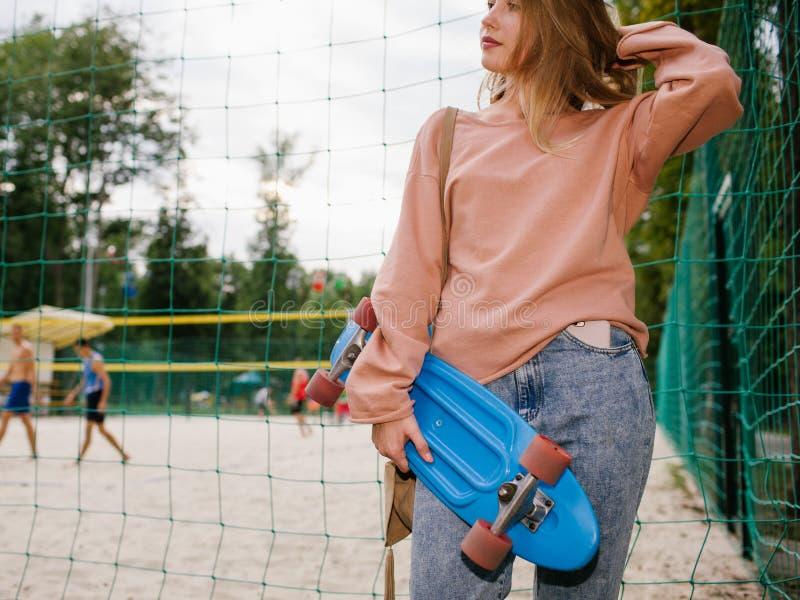 Skater girl urban skateboarding youth lifestyle stock photo