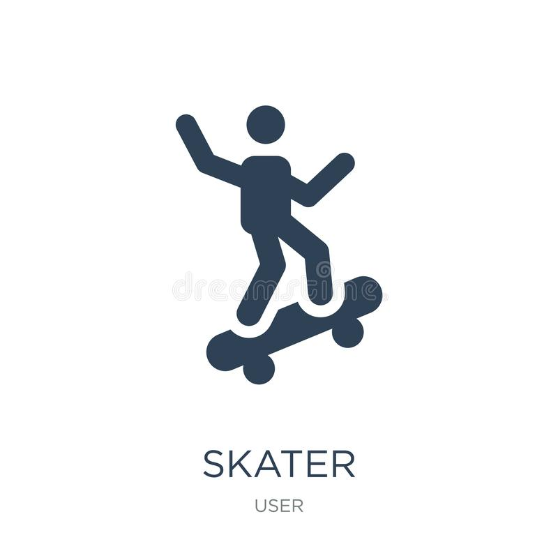 skater icon in trendy design style. skater icon isolated on white background. skater vector icon simple and modern flat symbol for stock illustration
