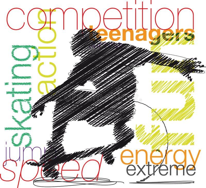 Skater illustration royalty free illustration