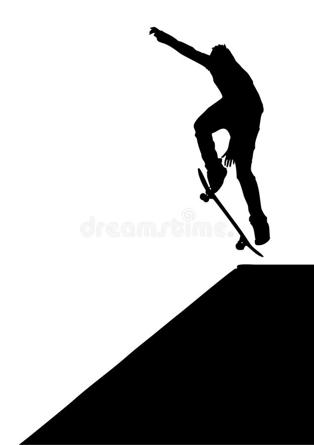 Download Skater jump stock vector. Image of satisfy, danger, freedom - 11155608