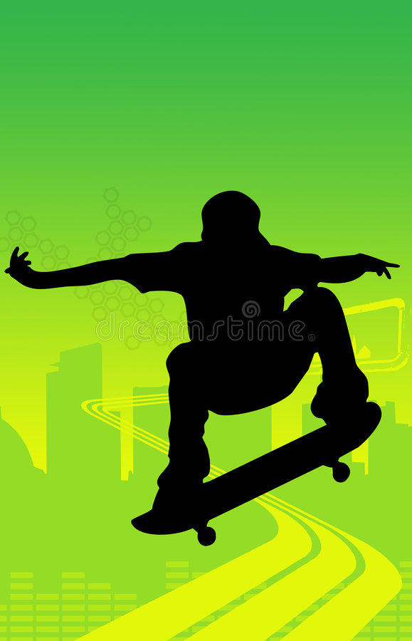 Download Skater Jumping (skateboarder) Stock Photos - Image: 7401703