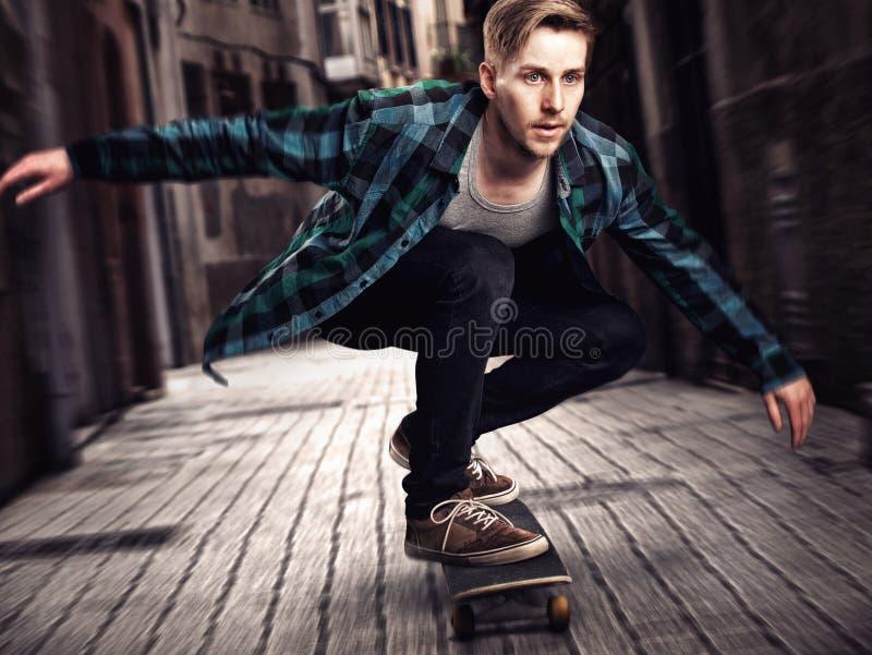 Skater masculino imagens de stock