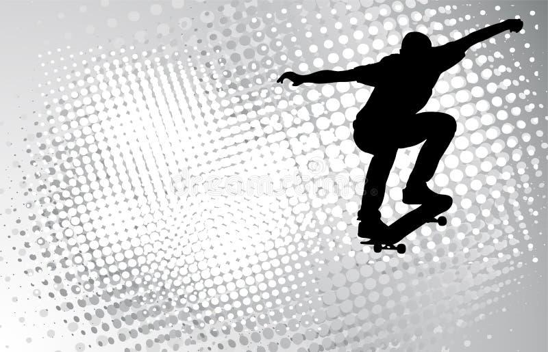 Skater no fundo abstrato ilustração royalty free