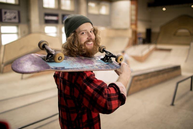 Skater Smiling at Camera royalty free stock images