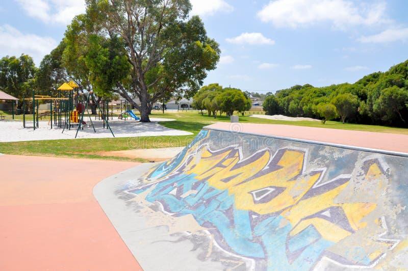 Skater Zone and Playground stock photo