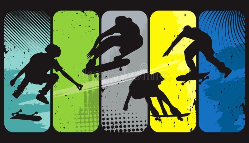 Skateres ilustração stock