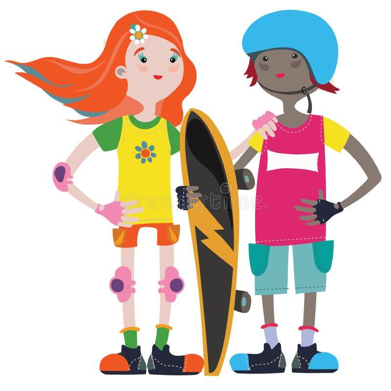 skaters vector illustratie