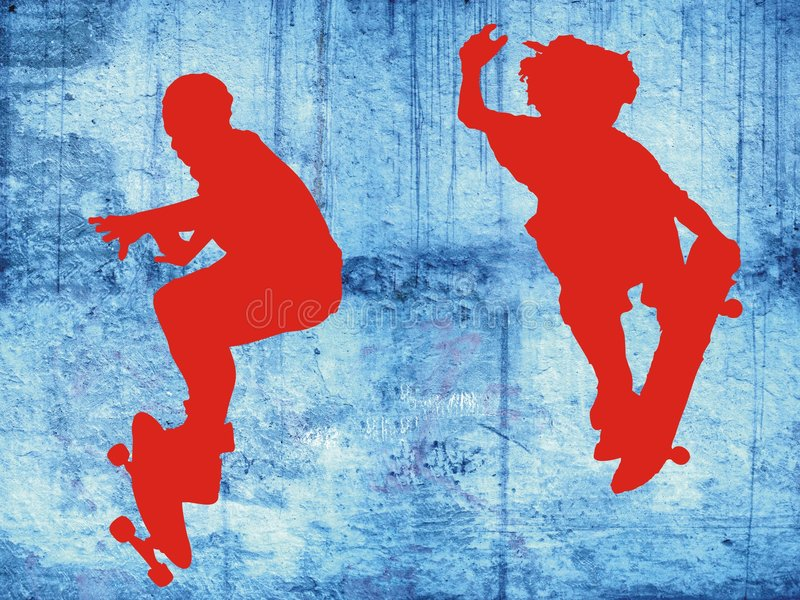 Download Skaters stock illustration. Illustration of youth, teenager - 7082224