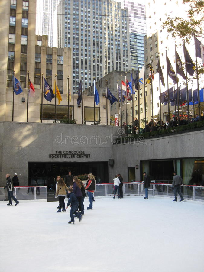 Skaters At Rockefeller Center Editorial Stock Image