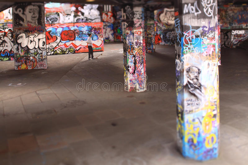 Skaters on South Bank, London. Skaters on the South Bank, London stock photo