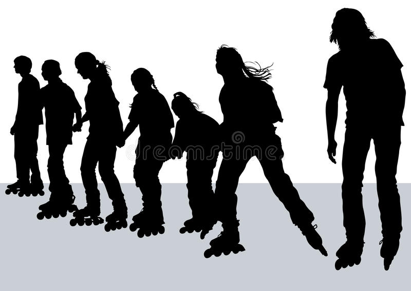 Download Skates athletes stock vector. Image of help, motion, beautiful - 13191237