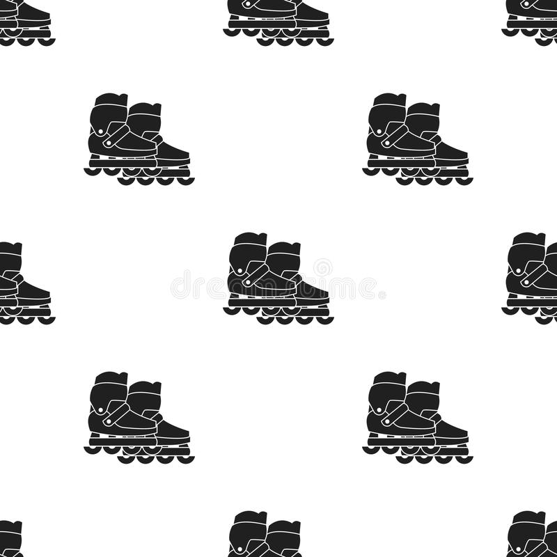 skates icon in black style isolated on white background. vector illustration