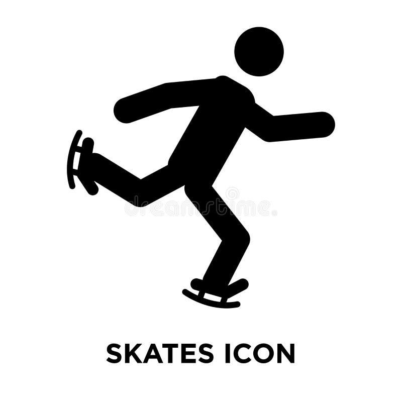 Skates icon vector isolated on white background, logo concept of royalty free illustration