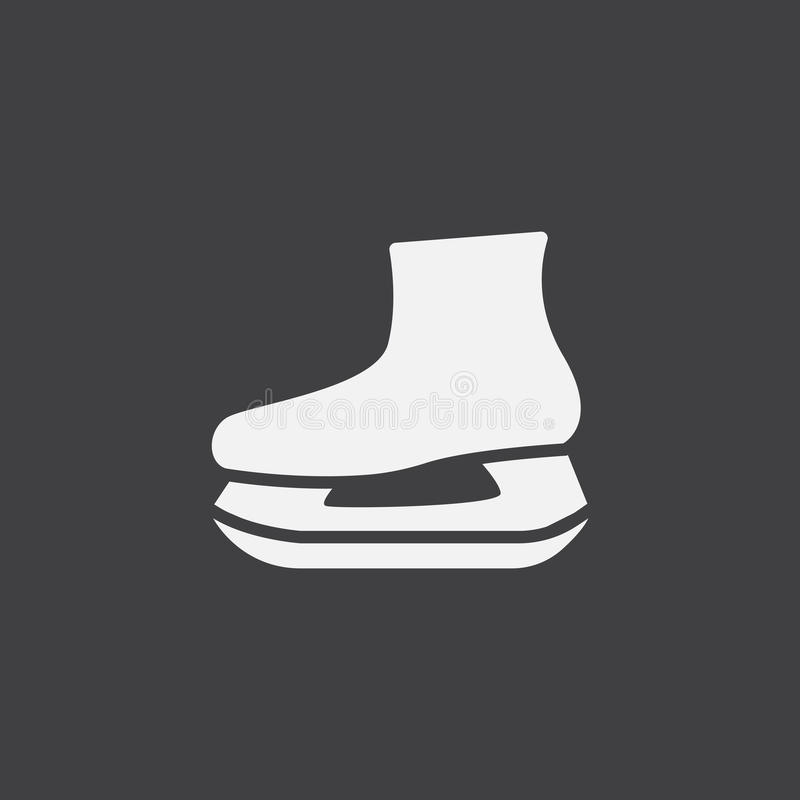 Skates icon vector, solid logo illustration, pictogram isolated on black. Skates icon vector, solid logo illustration, pictogram isolated on black vector illustration