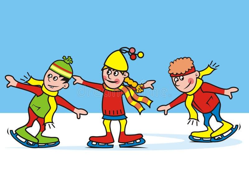 skating иллюстрация вектора
