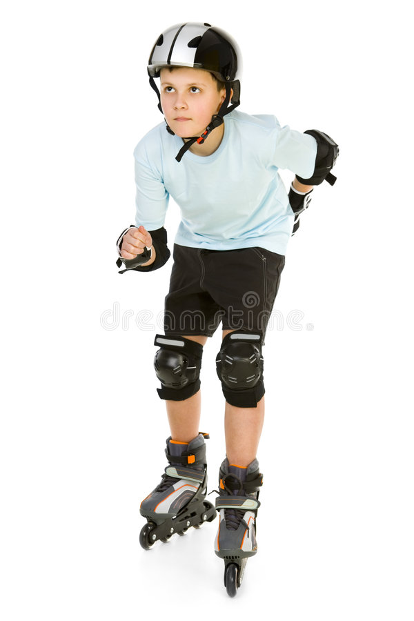 Skating boy royalty free stock photography