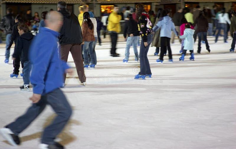 Skating at bryant park. Manhattan, new york, america, usa stock photos