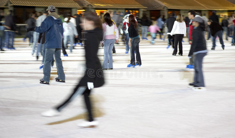 Skating at bryant park stock images