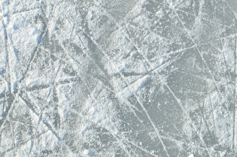 Skating ice ring texture royalty free stock images