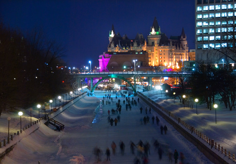 Download Skating On The Rideau Canal Stock Photo - Image: 4319690